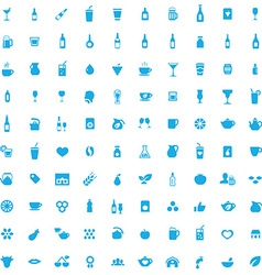 100 drinks icons vector image vector image