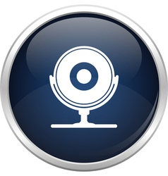 Blue webcam icon vector