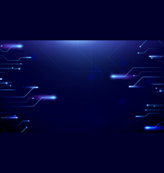 abstract lines circuit lights background vector image