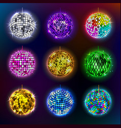 disco balls of discotheque vector image