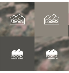 Logo rock vector