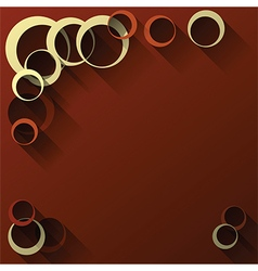 abstract circles dark red vector image vector image