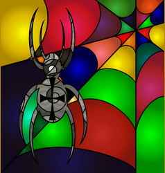 abstract colored spider vector image vector image