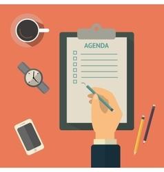 Agenda list concept Business vector image vector image
