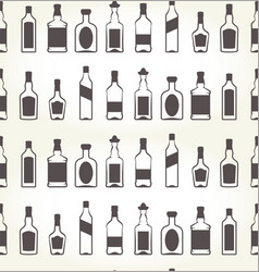 Alcohol bottels seamless patten - booze background vector