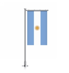 Argentina flag hanging on a pole vector