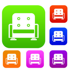 armchair set collection vector image