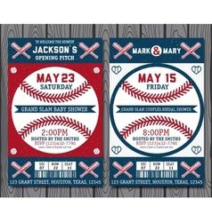 Baseball tickets vector
