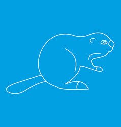 Beaver icon outline style vector