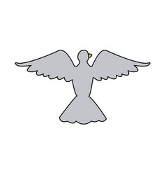 bird pigeon freedom peace wings open vector image