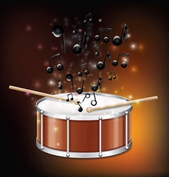 Drum with melody vector
