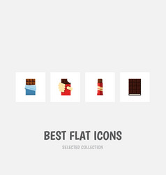 flat icon bitter set of dessert bitter sweet and vector image