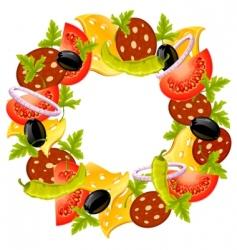 food wreath vector image vector image