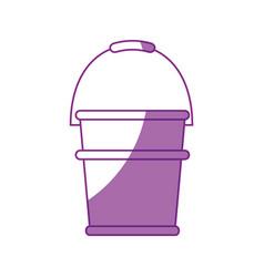 gardening bucket icon vector image