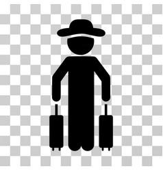 Gentleman passenger icon vector