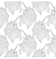 graphic low poly unicorn vector image vector image
