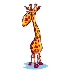 Image of a sad cartoon giraffe vector