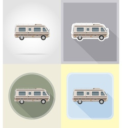 old retro transport flat icons 11 vector image