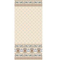 seamless pattern on a beige background with a wide vector image vector image