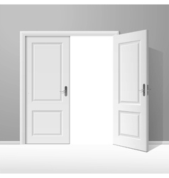 White open door with frame vector