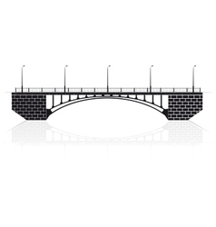 Reinforced concrete arch bridge in Kiev for cars vector image