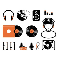 DJ set vector image