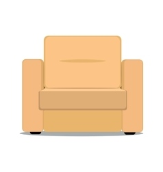 Soft armchair vector