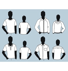 Man clothes design vector