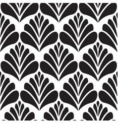 Abstract damask black petal seamless pattern vector