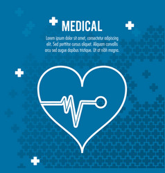 Heartbeat medical health care vector