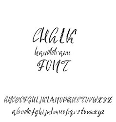 Handwritten chalked alphabet imitation vector