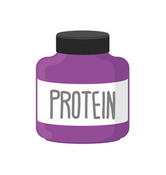 Protein container packing sports nutrition on vector