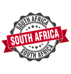 South africa round ribbon seal vector