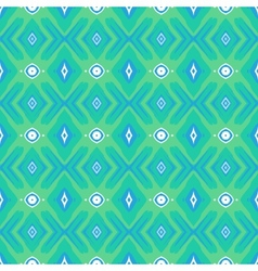 Pattern with geometric forms in mint green vector