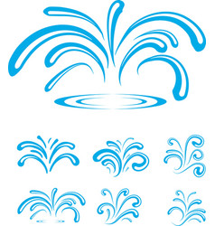 Splash of sparkling blue water drops vector