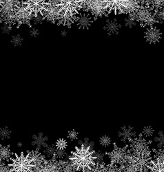 Frame with small snowflakes layered vector