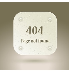 404 error file not found on website page vector