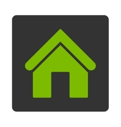 Home flat eco green and gray colors rounded button vector