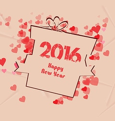 Happy new year gift background retro vector
