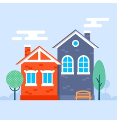 Color houses vector