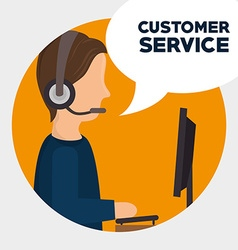 Customer service design vector