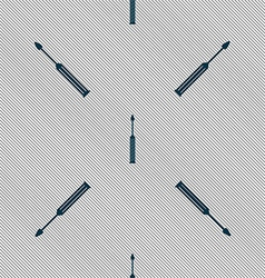 Screwdriver tool sign icon fix it symbol repair vector