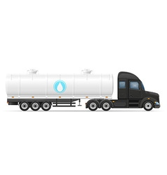 Semi truck trailer 07 vector