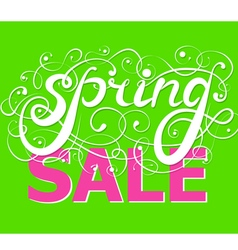 Spring sale background handwriting vector
