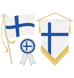 Finland flags vector