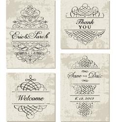 Invitations Template vector image