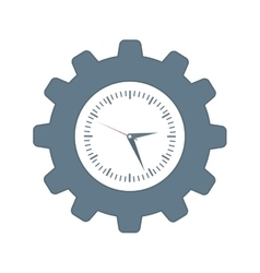 Clock inside gear icon time design vector