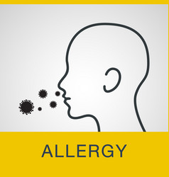 allergy logo icon vector image vector image