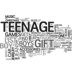 Awesome gift ideas for the teenage dude text word vector