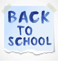 Back to school watercolor inscription vector